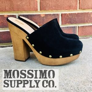 Mossimo   Faux Suede Riveted Clogs   Bohemian